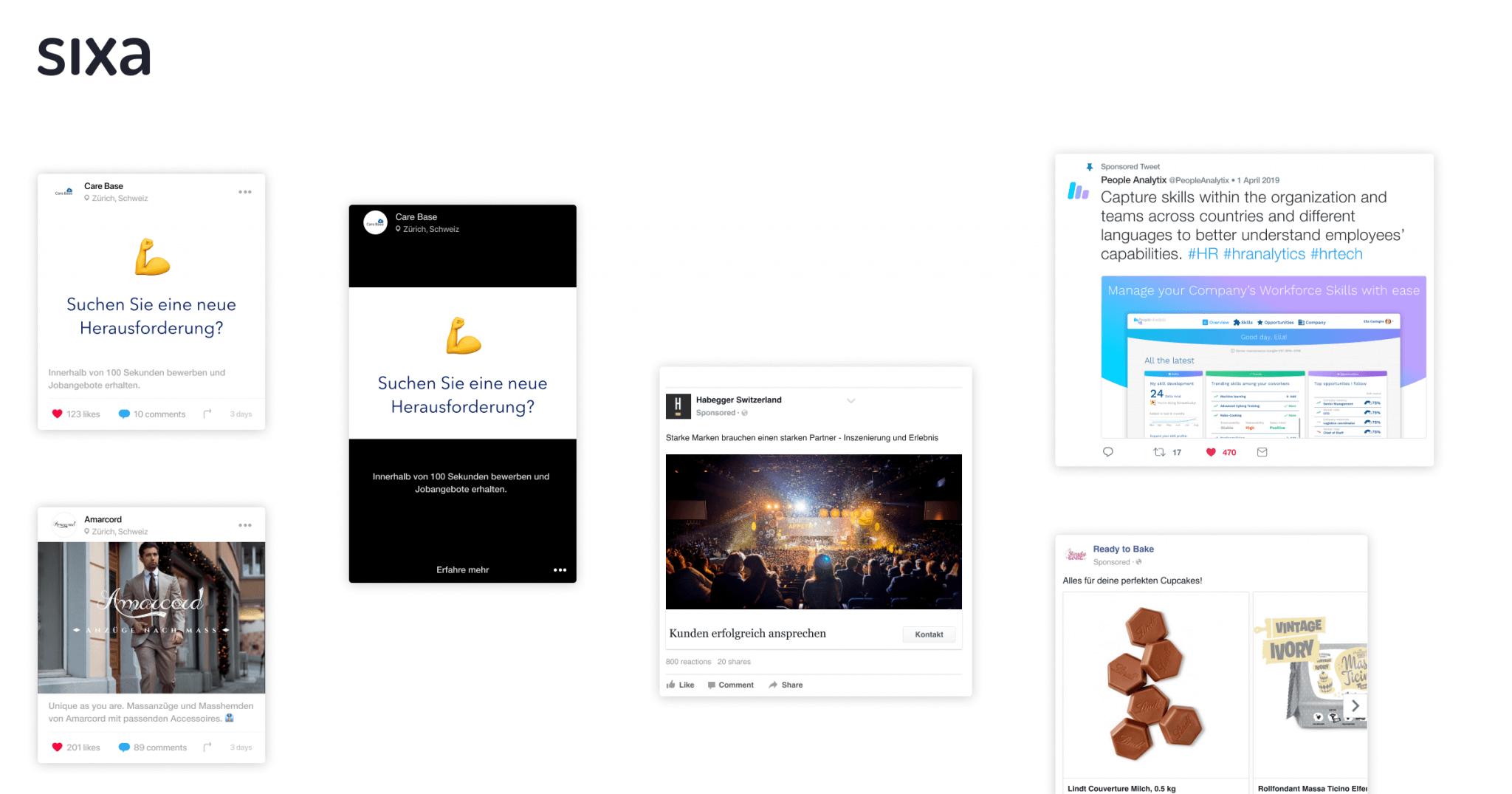 Beispiele von Ads mit Emojis