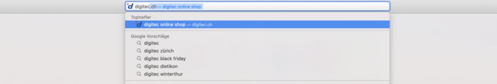 URL Suchleiste.